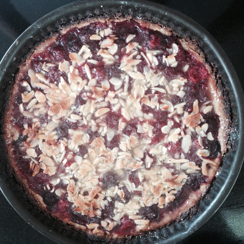 Hindbærtærte med tosca